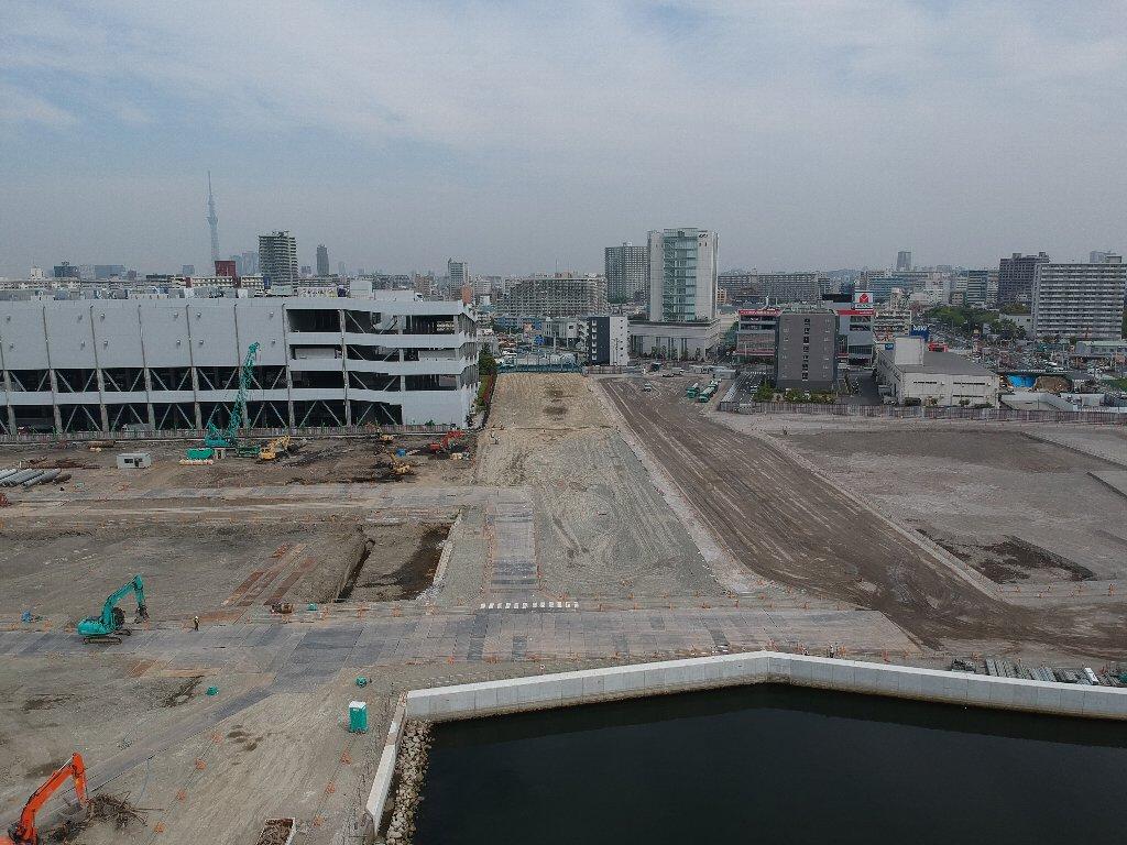 (仮称)新砂2,3丁目計画新築工事に伴う運河埋立工事