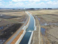 横手西部農業水利事業油川幹線排水路(その23)工事